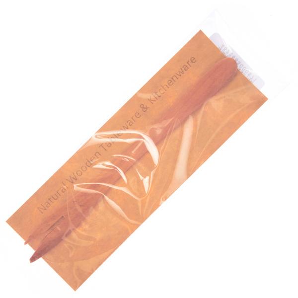15615  tougei sawo tree wooden japanese style wagashi and cake fork   wrapped