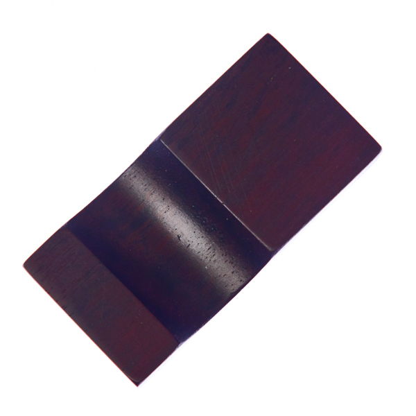 15616  tougei rosewood wooden chopstick rest   square  dark brown