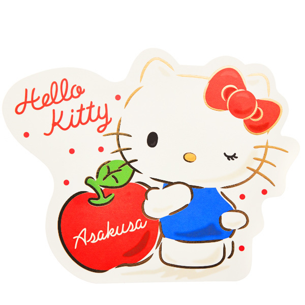 15646  sanrio greetings hello kitty asakusa apple greeting card