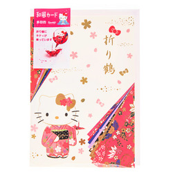 15650  sanrio greetings hello kitty origami crane pop up card   folded
