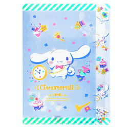 15654  sanrio cinnamoroll multi divider a4 clear file protector   indigo tea party