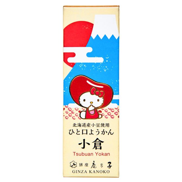 15664  sanrio hello kitty bite sized ogura tsubuan chunky red bean yokan jelly cake