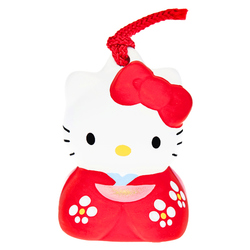15672  sanrio hello kitty tachikichi ceramic traditional japanese bell