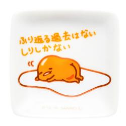 15675  sanrio gudetama mini ceramic soy sauce dish   oshiri