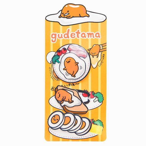 15678  sanrio gudetama hair accesory set   gudetama breakfast   packaged