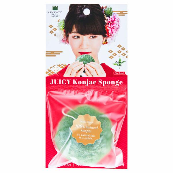 15682  yamamoto farm corporation juicy konjac facial sponge   green tea