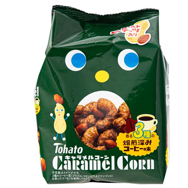 15708  tohato caramel corn 3 variety roasted coffee snacks