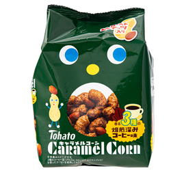 15708  tohato caramel corn 3 variety roasted coffee snacks