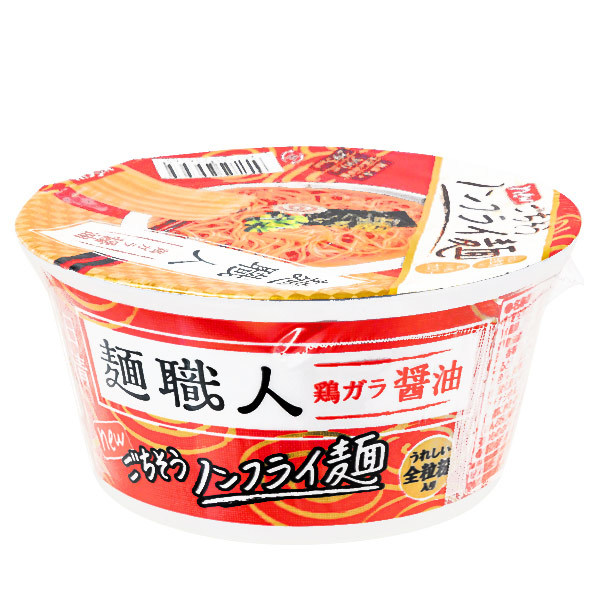 15712  nissin menshokunin chicken soy sauce flavoured instant ramen noodles   side view
