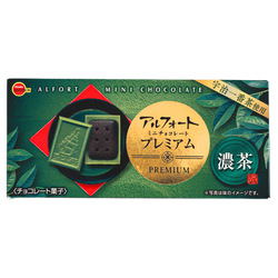 15694  bourbon alfort premium rich matcha mini chocolate biscuits