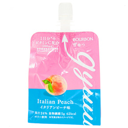 15697  bourbon gyuu italian peach jelly drink