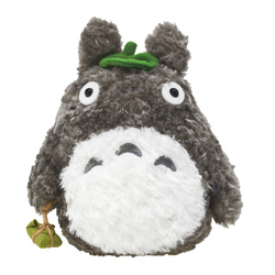 15700  sun arrow totoro soft toy   dark grey  small