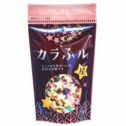15753  hitachiya honpo colourful star shaped wheat gluten