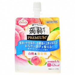 15801  tarami white and golden peach flavoured premium konjac jelly drink