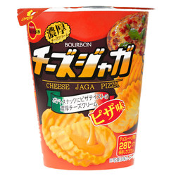 15820  bourbon cheese jaga pizza flavoured cheese cream coated potato snack
