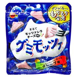15823  bourbon gumi mozza stretchy grape flavoured gummy candy