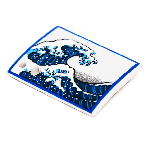 15788  shoyeido incense holder   hokusai's 'great wave off kanagawa'