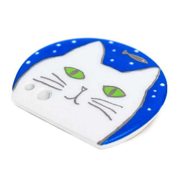 15777  shoyeido incense holder   white cat