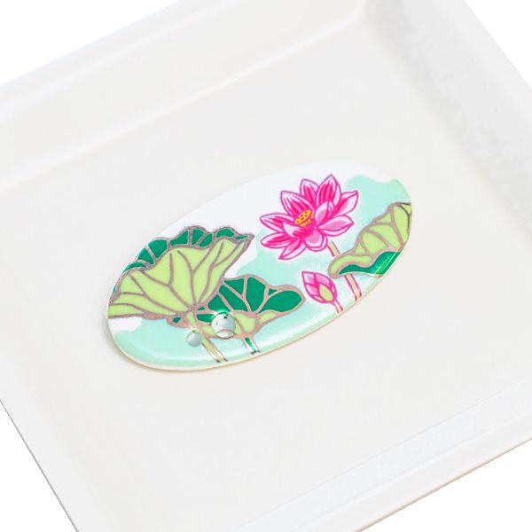 15774  shoyeido incense holder   lotus   on tray