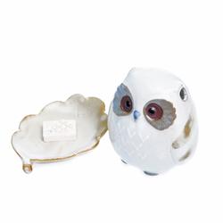 15772  shoyeido owl shaped incense burner   separate