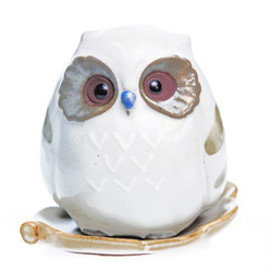 15772  shoyeido owl shaped incense burner