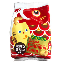 15964 tohato caramel corn black sugar and kinako snack
