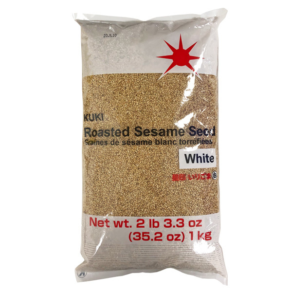 15985 kuki roasted white sesame seeds   catering size