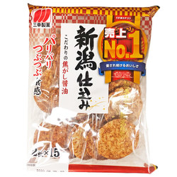 15990 sanko seika soy sauce flavoured rice crackers
