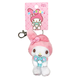 16167 sanrio my melody plush mini keychain