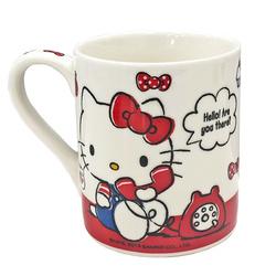 16184 sanrio hello kitty relax with friends ceramic mug