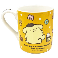 16185 sanrio pompompurin relax with friends ceramic mug