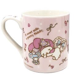 16186 sanrio my melody relax with friends ceramic mug
