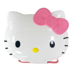 16192 sanrio hello kitty face shaped bento lunch box with belt