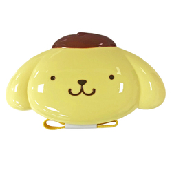 16193 sanrio pompompurin face shaped bento lunch box with belt
