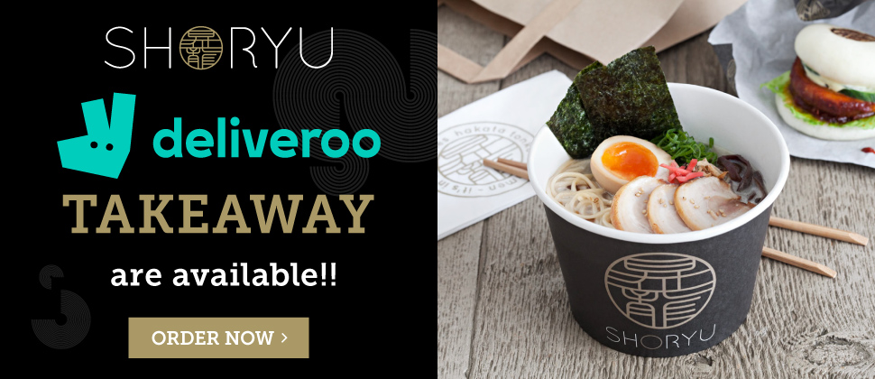 Shoryu Available For Takeaway through Deliveroo