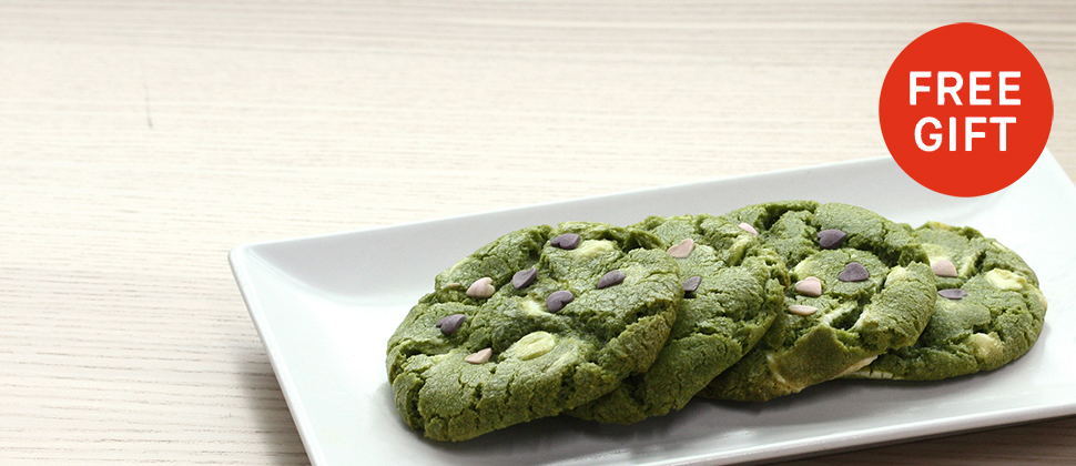 Free Matcha Cookies With Orders £50+