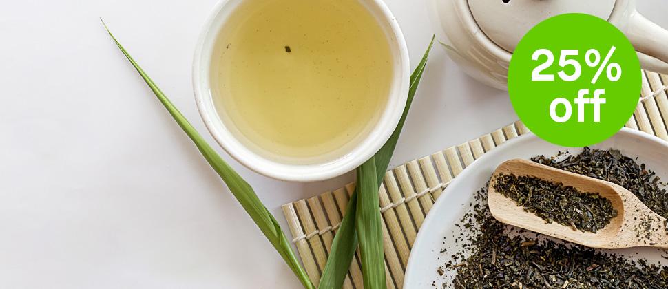 First Flush Green Tea 25% Off Sale