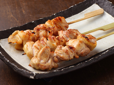 Yakitori japanese skewered chicken