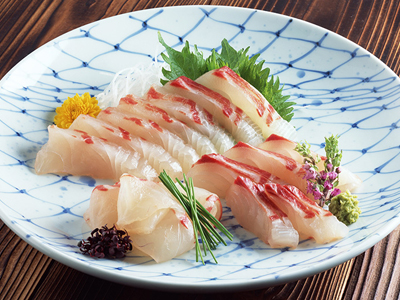 Sashimi fresh raw fish