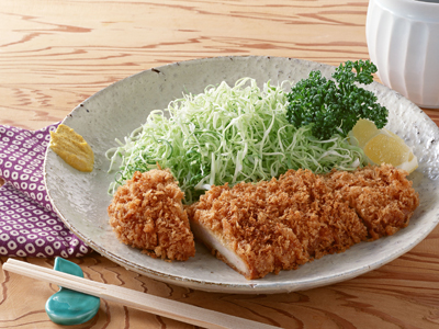 Japanese deep fried tonkatsu pork cutlet