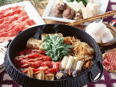 Beef sukiyaki hot pot