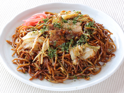 Japanese yakisoba fried noodles