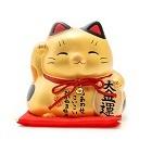 10379 lucky cat coin bank gold140 140