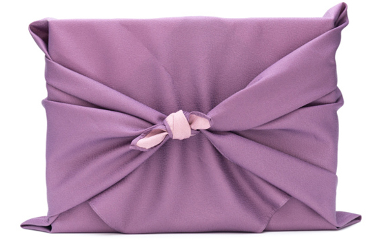 Purple furoshiki box