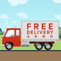 Free standard delivery 198x200