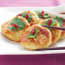 Photo daikon and prawn patties