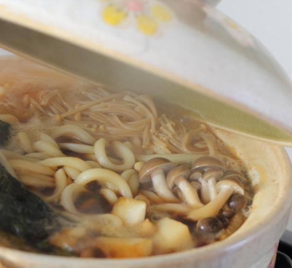Zuppa di Udon e funghi