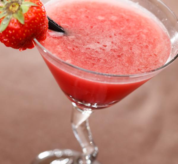 Cocktail al Sake e fragole