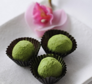Photo valentine s matcha truffles