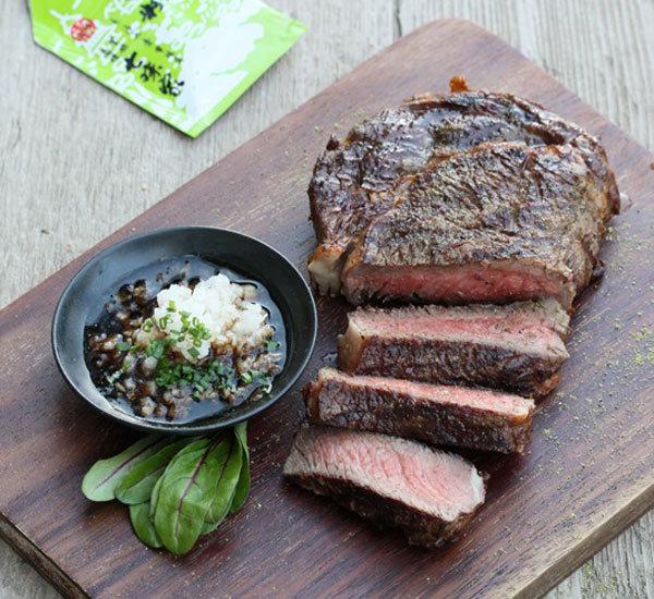 Steak wagyu avec ponzu au daikon et sansho